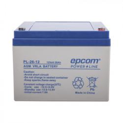 EPCOM POWERLINE - PL-26-12 - Batería con Tecnología AGM/VRLA 26 Ah. 12 Vcd