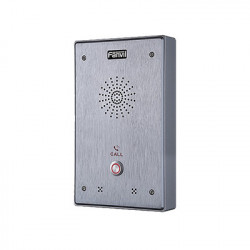 FANVIL - I12-N-01P - Intercomunicador IP 2 líneas SIP 2 relevadores con botón para llamada anti-vandálico IP65 e IK10 PoE