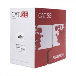 HIKVISION - DS-1LN5EO-UU/E - Bobina de cable UTP 305 m. Cat5E (24 AWG) Color Negro PE uso en Exterior 100% Cobre Para aplicaciones de CCTV Redes de datos y Enlaces inalámbricos