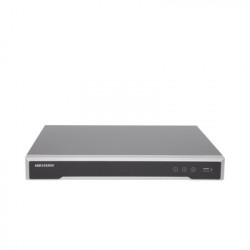 HIKVISION - DS-7616NI-I2/16P - NVR 12 Megapixel (4K) / 16 canales / 16 Puertos PoE+ / H.265+ / Hik-Connect / Switch PoE 300 mts / 2 HDD / HDMI en 4K / Soporta POS
