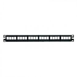 PANDUIT - NKFP24Y - Panel de Parcheo Modular Keystone (Sin Conectores) de 24 Puertos Identificación con Etiqueta Adhesiva 1UR