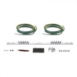 PANDUIT - RGRKCBNJEJY - Kit de Puesta a Tierra con dos Jumpers 6 AWG y Barra de Conexiones de 20 Orificios para Rack de 19in