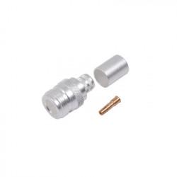 RF INDUSTRIES LTD - RFN-1028-SI - Conector N Hembra de Anillo Plegable para Cables 9913 8214 LMR-400 RG8/U-SYS RFLASH-1113 Plata/ Oro/ Teflón.