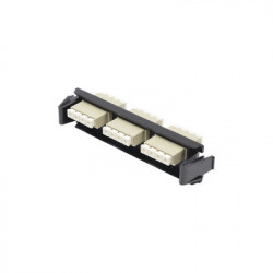 SIEMON - RIC-F-LC12-01C - Placa acopladora de Fibra Óptica Quick-Pack Con 3 Conectores LC Quad (12 Fibras) Para fibra Multimodo Beige