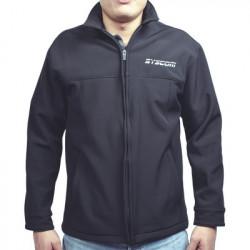 Syscom - CHAMSYSHNXS - Elegante Chamarra para Caballero Color Negro Fabricada en Poliéster Dry Fit Impermeable