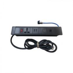 THORSMAN - THMC-HUB - Hub para escritorio color negro con 1 Puerto HDMI Hembra-Hembra 1 Conector RJ45 Cat6 2 Puertos USB 5V DC /2 A y 1 Contacto eléctrico universal