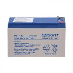 EPCOM POWERLINE - PL-7-12 - Batería AGM / VRLA / 12 Vcd / 7 Ah / TAMAÑO ESTANDAR ( 151 x 101 x 65 mm)