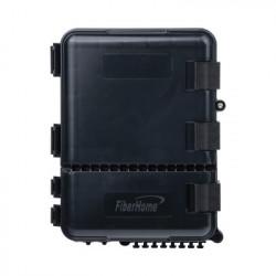 FIBERHOME - FDP-440A - Caja de Distribución de Fibra Óptica para 24 Empalmes con 8 acopladores SC/APC simplex Exterior IP55 Color Negro