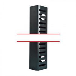 LINKEDPRO - LPCV-21URM - Organizador de cable Vertical Mediano de 21 Unidades Rack.