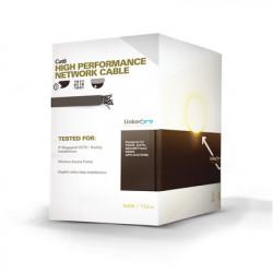 LINKEDPRO - PRO-CAT-6-GELX/500 - Cable Cat6+ CALIBRE 23 UTP Intemperie con GEL DOBLE CHAQUETA UL con garantía de 25 años color negro de 152.5 Metros para Climas EXTREMOS