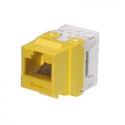 PANDUIT - NK688MYL - Conector Jack Estilo 110 (de Impacto) Tipo Keystone Categoría 6 de 8 posiciones y 8 cables Color Amarillo
