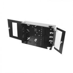 SIEMON - SWIC3G-E-AA-01 - Caja de conexión de fibra óptica para montaje en pared hasta 192 puertos LC o SC ( Acepta 8 placas Acopladoras) color negro