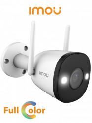 DAHUA - DHT0030045 - IMOU Bullet 2 - Camara IP Bullet Wifi de 2 Megapixeles/ Full Color/ Disuasion Activa con Estrobo y Sirena Integrados/ 108 Grados de Apertura/ 30 Mts de IR/ H.265/ IP67/ Audio Bidireccional/ Microfono Integrado/ Deteccion de Humanos/ R
