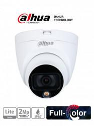 DAHUA - DHT0300013 - DAHUA HAC-HDW1209TLQP-LED - Camara Domo Full Color 1080p/ Lente de 2.8mm/ 106 Grados de Apertura/ Leds para 20 Metros de Luz Blanca/ Starlight/ IP67/ #FullColor