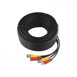 EPCOM TITANIUM - DIY-30M-HD - Cable Coaxial Armado con Conector BNC (Video) y Alimentación / Longitud de 30 mts / Optimizado para Cámaras 4K / Uso en Interior