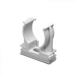 GEWISS - GW-50-603 - Soporte de presión (Abrazadera) PVC Auto-extinguible abierto para tubería de 25 mm