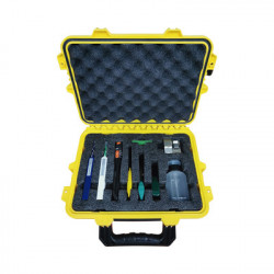 LINKEDPRO - LP-FT-KIT - Kit de herramientas para terminación de conectores mecánicos de fibra óptica incluye maletín ideal para transportar con especificación militar (uso rudo)