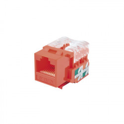 LINKEDPRO - LP-KJ-601-RD - Módulo Jack Keystone Cat6 con terminación 110 (Punchdown) para faceplate - Color Rojo