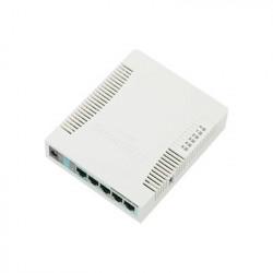 MIKROTIK - RB951G-2HND - RouterBoard 5 Puertos Gigabit Ethernet 1 Puerto USB WiFi 2.4 GHz 802.11b/g/n Antena de 2.5 dbi hasta 1W de potencia