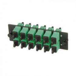 PANDUIT - FAP12WAGSCZ - Placa Acopladora de Fibra Optica FAP Con 12 Conectores SC/APC (12 Fibras) Para Fibra Monomodo OS1/OS2 Color Verde