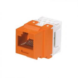 PANDUIT - NK688MOR - Conector Jack Estilo 110 (de Impacto) Tipo Keystone Categoría 6 de 8 posiciones y 8 cables Color Naranja