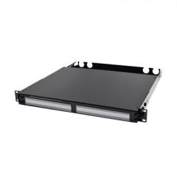 SIEMON - FCP3-DWR-4A - Panel de Conexión de Fibra de Alta Densidad Para Rack de 19in Acepta 4 Placas Plug and Play Hasta 96 Fibras 1 UR