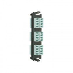 SIEMON - RIC-F-LCU24-01C - Placa acopladora de Fibra Óptica Quick-Pack Con 6 Conectores LC/UPC Quad (24 Fibras) Para Fibra Monomodo Azul