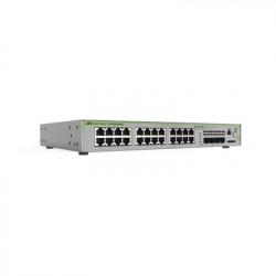 ALLIED TELESIS - AT-GS970M/28PS-10 - Switch PoE+ Administrable CentreCOM GS970M Capa 3 de 24 Puertos 10/100/1000 Mbps + 4 SFP Gigabit 370 W