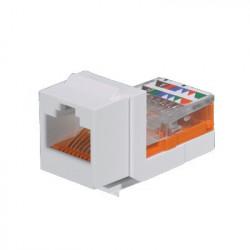 PANDUIT - NK5E88MWHY - Conector Jack Estilo Leadframe Tipo Keystone Categoría 5e de 8 posiciones y 8 cables Color Blanco