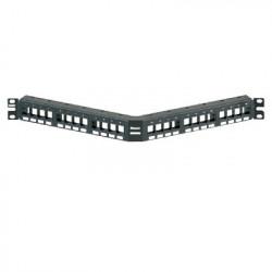 PANDUIT - NKPPA24FMY - Panel de Parcheo Modular Keystone (Sin Conectores) Angulado de 24 Puertos 1UR