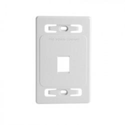 SIEMON - MX-FP-S-01-02 - Placa de pared modular MAX de 1 salida color blanco