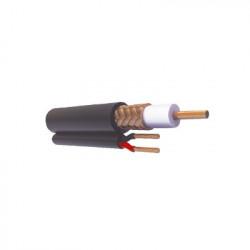 VIAKON - RG-59-V-CCA/1000 - Cable RG59 Siamés 305M CCA HECHO EN MÉXICO Optimizado para HD Para uso en Intemperie.