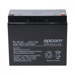 EPCOM POWERLINE - PL-18-12 - Batería con Tecnología AGM / VRLA 12 Vcd 18 Ah. terminal de tornillo HEX