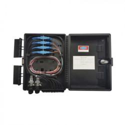 FIBERHOME - GFS-16G - Cierre de Empalme para 24 fusiones de fibra óptica Interior/Exterior con 16 acopladores SC/APC y splitter 1x16 IP65