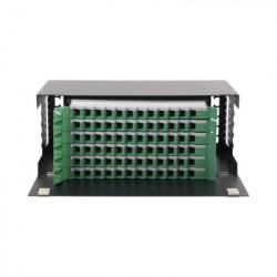 """LINKEDPRO - LP-ODF-8072 - Distribuidor de Fibra Óptica con bandejas deslizables vacío 19in acepta 72 adaptadores """"LC Duplex"""" o """"LC Simplex"""" o 72 """"SC"""" Simplex 4U"""