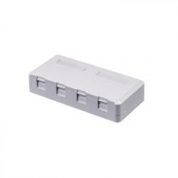 LINKEDPRO - LP-WP-07B - Caja de pared de 4 puertos sin jack