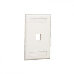 PANDUIT - NK1FWHY - Placa de Pared Vertical Salida Para 1 Puerto Keystone Con Espacios Para Etiquetas Color Blanco