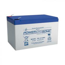 POWER SONIC - PS-12120-F2 - Batería de Respaldo UL de 12V 12AH / Ideal para Sistemas de Detección de Incendio / Control de Acceso / Intrusión / Videovigilancia / Terminales Tipo F2