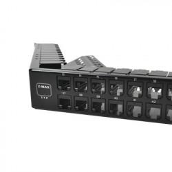 SIEMON - Z6A-PNLA-U48K - Patch Panel UTP Z-MAX Categoría 6A de 48 puertos Angulado 1UR