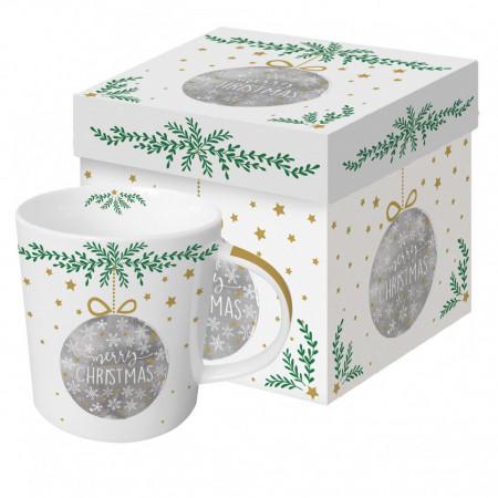 cana de porțelan in cutie cadou pentru crăciun