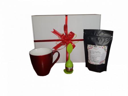 cadou corporate craciun cana infuzor si ceai