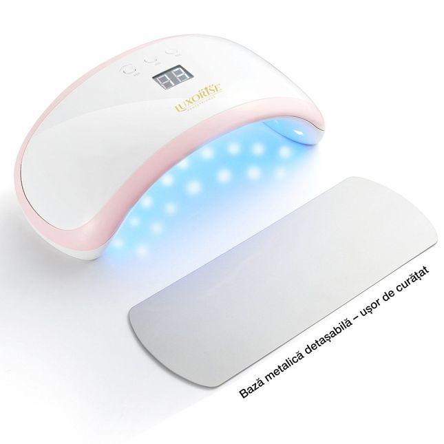 Lampa Led Uv Unghii Gel 36w Precious Pink Luxorise