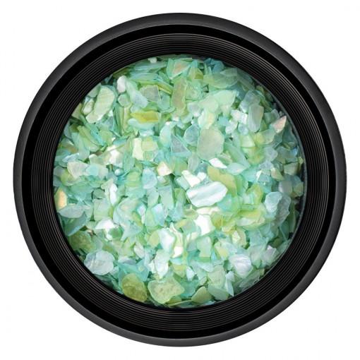 Poze Decor Unghii tip Scoica Pisata Light Green, LUXORISE