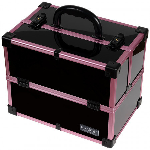 Poze Geanta Produse Cosmetice din Aluminiu, Black Case Violet - LUXORISE