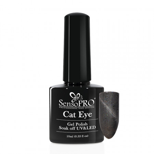 Poze Oja Semipermanenta SensoPRO Cat Eye Intense Grey #041, 10ml