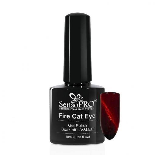 Poze Oja Semipermanenta SensoPRO Fire Cat Eye #08, 10 ml