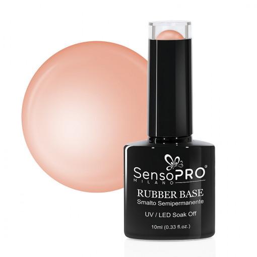 Poze Rubber Base Gel SensoPRO Milano 10ml, Charmed Nude 03