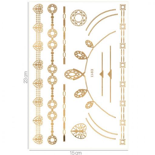 Poze Tatuaj Temporar LUXORISE Gold Edition E013