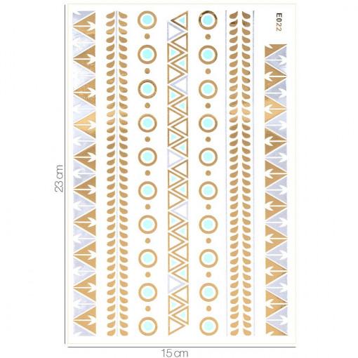 Poze Tatuaj Temporar LUXORISE Gold Edition E022