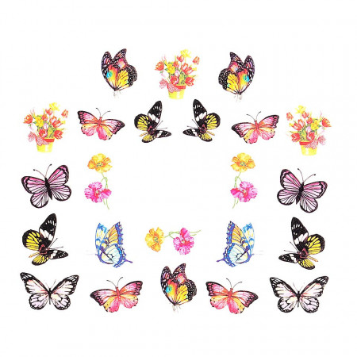 Poze Tatuaj Unghii Butterfly BN-1546, LUXORISE